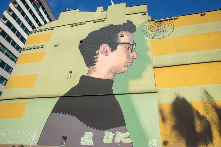 W Warszawie odsłonięto mural upamiętniający Jana Lityńskiego