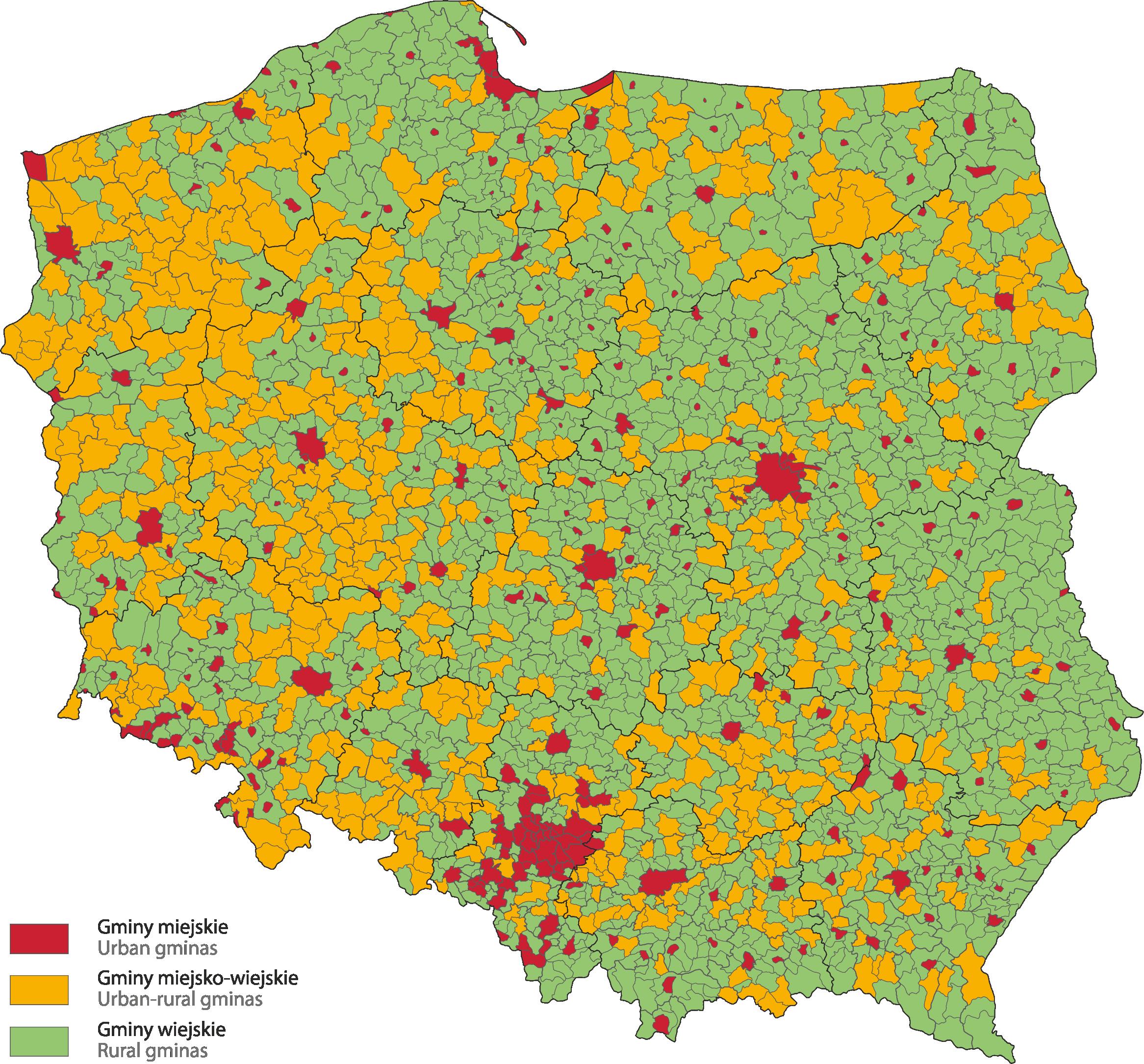 Rodzaje gmin w Polsce (fot. stat.gov.pl)